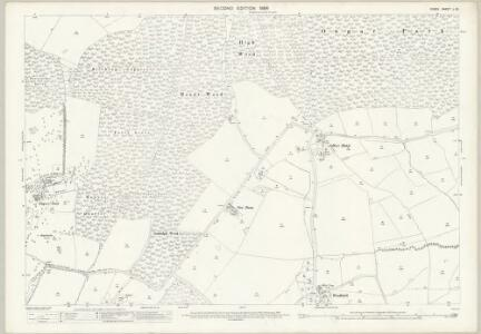 Essex (1st Ed/Rev 1862-96) L.15 (includes: Stanford Rivers; Stapleford Tawney; Theydon Garnon; Theydon Mount) - 25 Inch Map