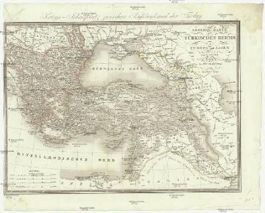 Karte Europa Asien.General Karte Des Turkischen Reichs In Europa Und Asien