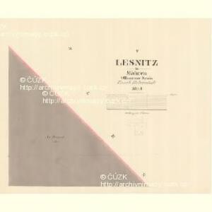 Lesnitz - m1497-1-005 - Kaiserpflichtexemplar der Landkarten des stabilen Katasters