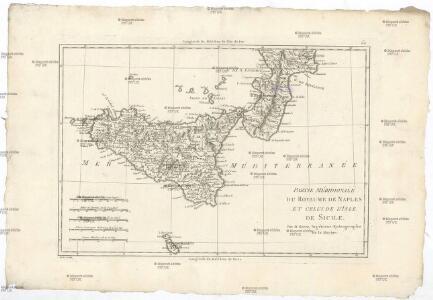 Partie méridionale du royaume de Naples et celui de l'isle de Sicile