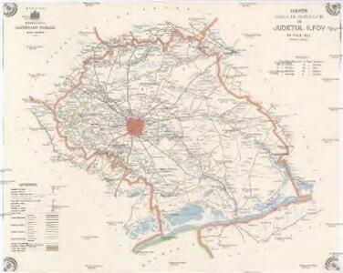 Harta Cailor De Comunicatie Din Judetul Ilfov