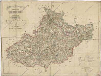 Hand - und Reisekarte der Markgrafschaft Mähren und des Herzogthums Schlesien