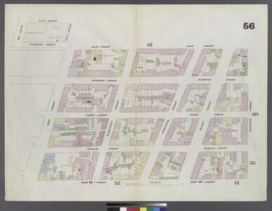Plate 56: Map bounded by Bleeker Street, West 10th Street, West Street, Hammond Street, Hudson River, Bank Street