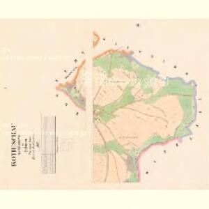 Kotieschau (Kotěssowy) - c2591-1-001 - Kaiserpflichtexemplar der Landkarten des stabilen Katasters