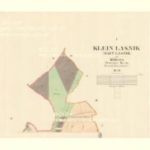 Klein Lasnik (Maly Lasnik) - m1477-1-001 - Kaiserpflichtexemplar der Landkarten des stabilen Katasters