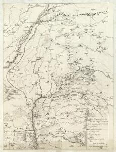 Carta Topographica da Torino sino a Cuneoconsuoi camini fiumi Torenti et Seoladici