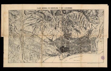 Plano general de Barcelona y sus alrededores