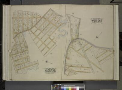 Queens, Vol. 2, Part of Ward Two Corona Park; [Map    bounded by Corona Ave., Mill Creek, Walker St., Oxford St., Pine St., Washington Ave.; Including Plateau St., Smith St., Orchard St., Home St., Fairview St.,     Longview St.]; Part of Ward Two Elm