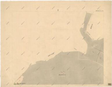 Katastrální mapa obce Obora