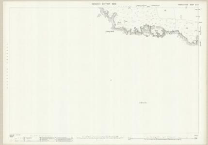Pembrokeshire XLII.9 (includes: Castlemartin) - 25 Inch Map