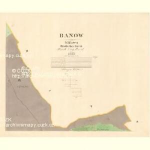 Banow - m0030-1-008 - Kaiserpflichtexemplar der Landkarten des stabilen Katasters