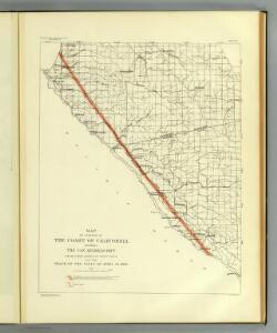 Coast of California showing San Andreas Rift.