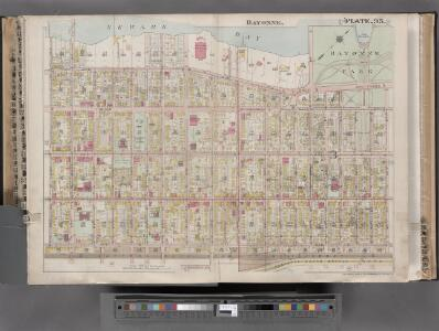 Jersey City, V. 1, Double Page Plate No. 35 [Map bounded by Newark Bay, E. 42nd St., W. 42nd St., Avenue E, E. 24th St., W. 24th St.] / compiled under the direction of and published by G.M. Hopkins Co.