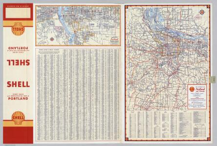 Street Map of Portland (Southern Section).  Metropolitan Portland and Vicinity.