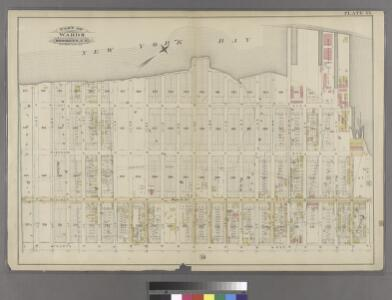 Plate 33: Bounded by (New York Bay & Piers) First Avenue, 38th Street, Fourth Avenue and 59th Street.