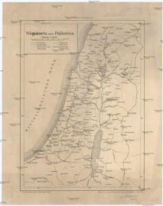 Wegekarte von Palästina
