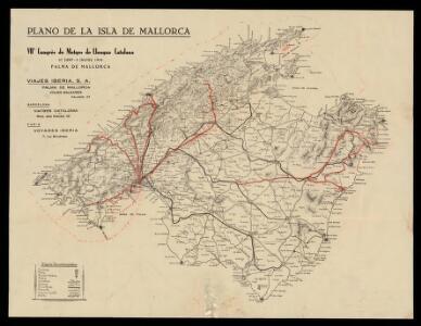 Plano de la isla de Mallorca
