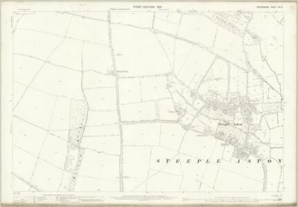 Oxfordshire XVI.13 (includes: Middle Aston; Steeple Aston; Steeple Barton; Westcott Barton) - 25 Inch Map
