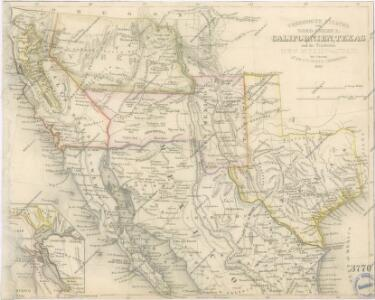 Vereinigte Staaten von Nord America : Californien, Texas und die Territorien New Mexico u. Utah