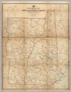 Post Route Map Of New Hampshire, Vermont