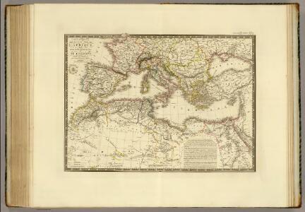 Nord de l'Afrique, Mer Mediterranee, Europe Meridionale.