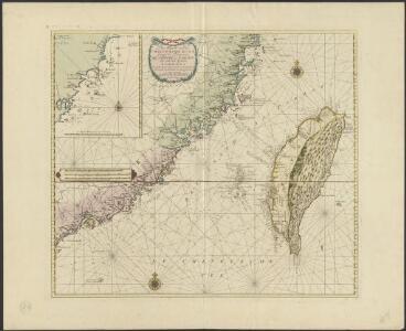 Pas-kaart van de Chineesche Kust, langs de Provincien Quantung en Fokien, als ook het Eyland Formosa, met alle daar onder gehoorende eylanden als mede de dieptens en ankergronden
