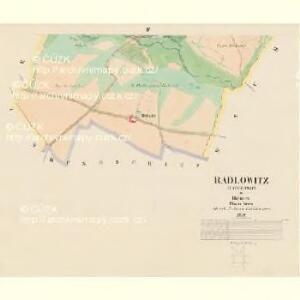 Radlowitz (Radimowic) - c6351-1-003 - Kaiserpflichtexemplar der Landkarten des stabilen Katasters