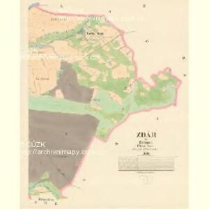 Zdár - c9353-1-002 - Kaiserpflichtexemplar der Landkarten des stabilen Katasters