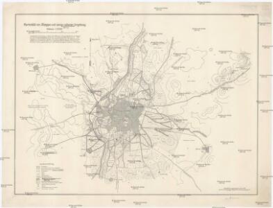 Kartenbild von Aleppo und seiner näheren Umgebung