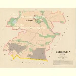 Radkowitz - c6358-1-002 - Kaiserpflichtexemplar der Landkarten des stabilen Katasters