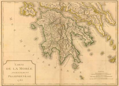 Carte de la Morée anciennement Peloponnèse, 1785