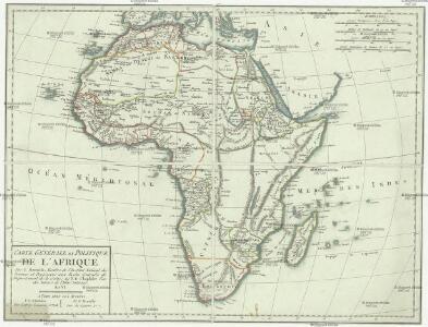 Carte générale et politique de l'Afrique