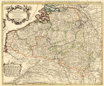Belgium Regium Accuratissime Divisum. &c: Ad Usum Serenissimi Burgundiae Ducis. Authore G. de l'Isle, Geographe