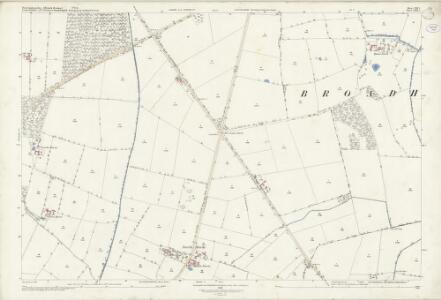 Lincolnshire LXIX.3 (includes: Broadholme; Doddington and Whisby; Harby; Saxilby with Ingleby; Thorney) - 25 Inch Map