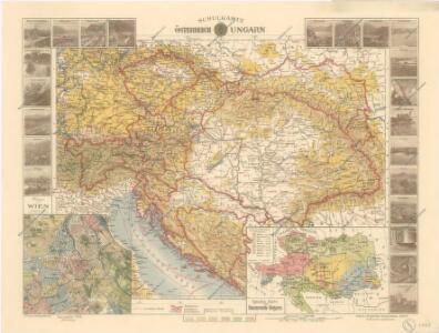 Schulkarte von Österreich-Ungarn