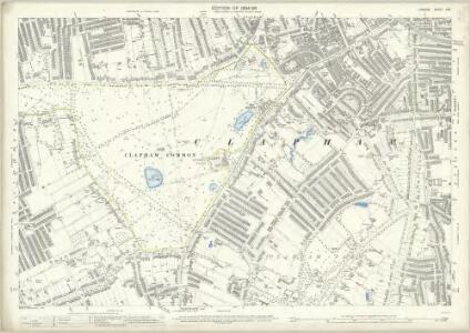 London (Edition of 1894-96) CXV (includes: Battersea; Wandsworth Borough) - 25 Inch Map
