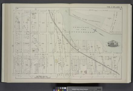 Vol. 2. Plate, S. [Map bound by Central Ave., Cemetery of the Evergreens, City Line, Broadway, Schaeffer St.; Including Evergreen Ave., Bushwick Ave., Van Voorhees St., Cooper St., Fairfax St., Pilling St., Granite St., Furman St., Aberdeen St., Hull St.