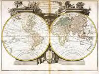Mappe monde ou description du globe terrestre