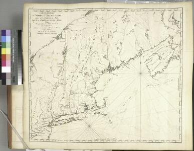 Carte réduite du Nord des Etat-Unis avec l'intérieur du pays, pour servirà l'intelligence de cette histoire.
