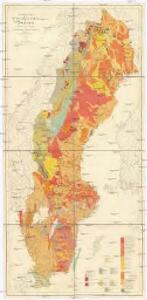 Geological Map of the Pre-Quaternary Systems of Sweden
