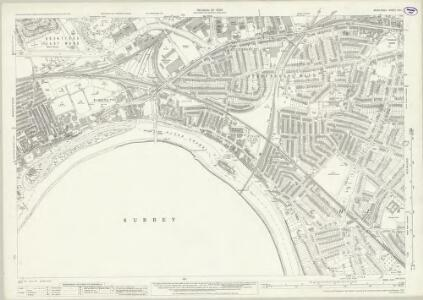 Middlesex XXI.1 (includes: Chiswick St Nicholas; Kew; Mortlake; North Sheen; Old Brentford) - 25 Inch Map