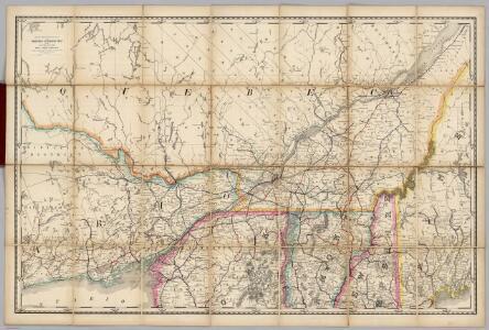 Quebec, New England) Railroad Map of the United States.