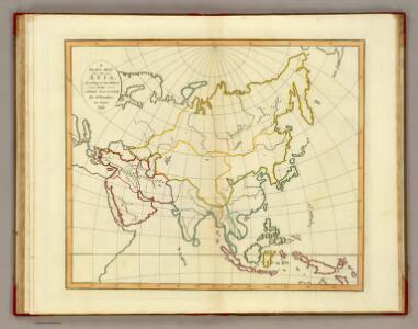 Plain map Asia.