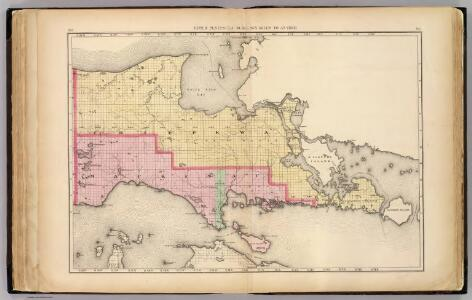 Upper Peninsula, scale six miles to an inch (Chippewa and Mackinac counties)