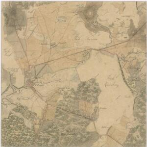 Generální mapa panství Třeboň a inkorporovaných statků Bzí, Lomnice, Borovany, Třeboň, Hamr a Val 1