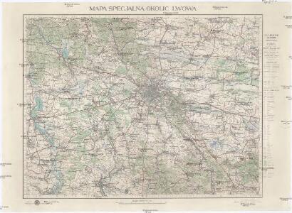 Mapa specjalna okolic Lwowa