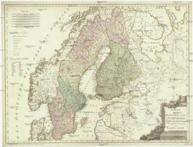 Karte von dem Koenigreiche Schweden