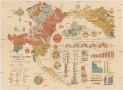 G. Freytag's Reichsrats-Wahlkarte von Österreich