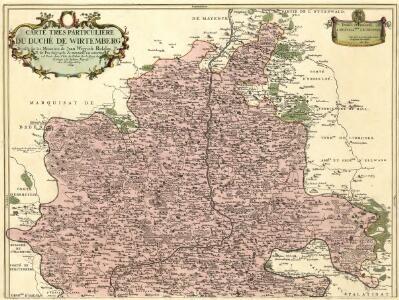 Carte tres Particuliere du Duché de Wirtemberg