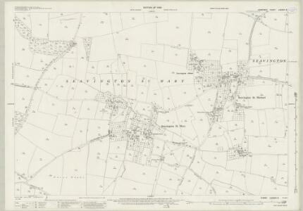 Somerset LXXXVIII.3 (includes: Kingstone; Seavington St Mary; Seavington St Michael; Whitelackington) - 25 Inch Map